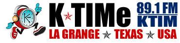 K-TIMe | KTIM 89.1 FM Music Sports Talk Radio | La Grange, Texas Logo